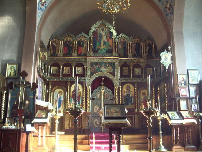 Russian Orthodox Church in Vancouver (interior).