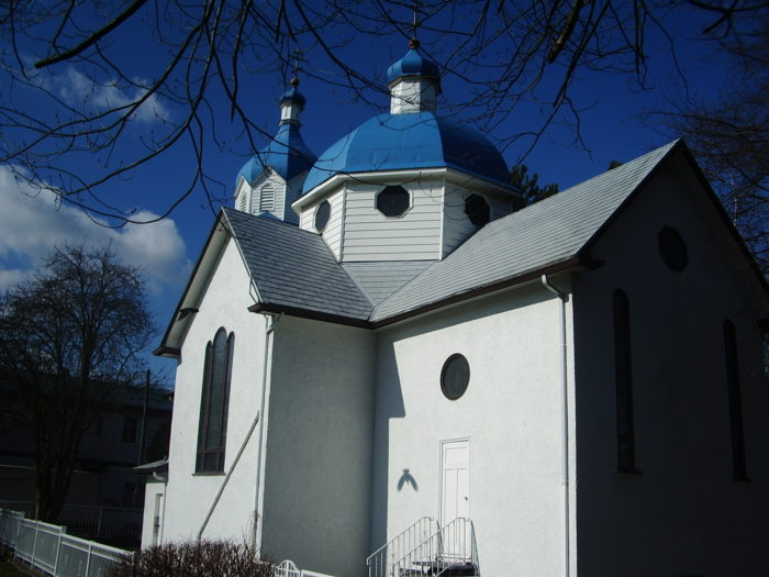Russian Orthodox Church in Vancouver (rear).