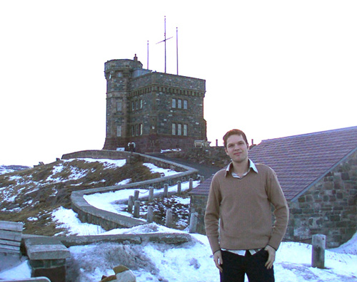 At Signal Hill in St. John's, Newfoundland in 2004