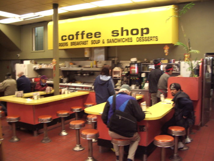 Coffee shop at Save On Meats.