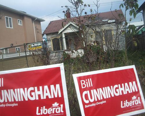 Bill Cunningham Liberal signs