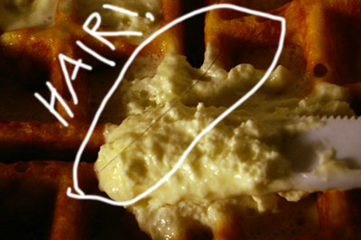 Hair in my waffle!