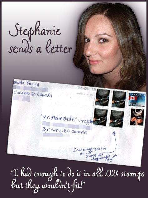 Letter from Stephanie