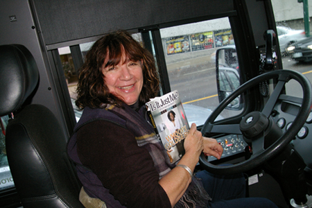 My bus driver reads Whoopi!