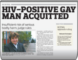 HIV-Positive Gay Man Acquitted