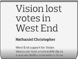 Vision lost votes in West End