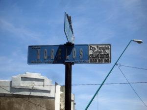 Street sign advertisements