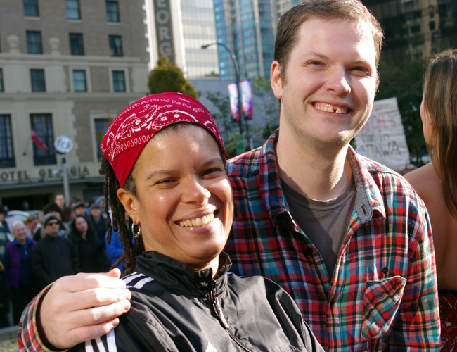 Natasha and Nathaniel at the Occupy Vancouver protest