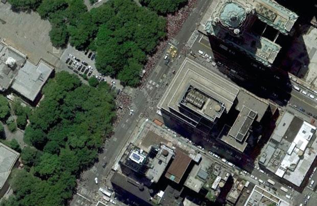 Foley Square in Google Earth