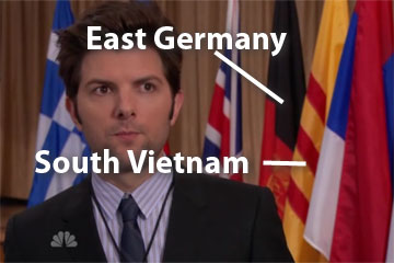Flags of East German and South Vietnam