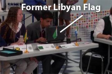 Former Libyan flag