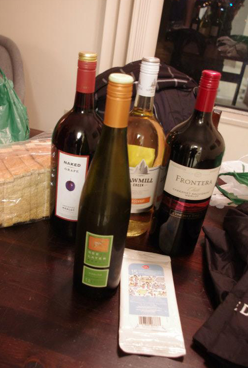 Four bottles of wine