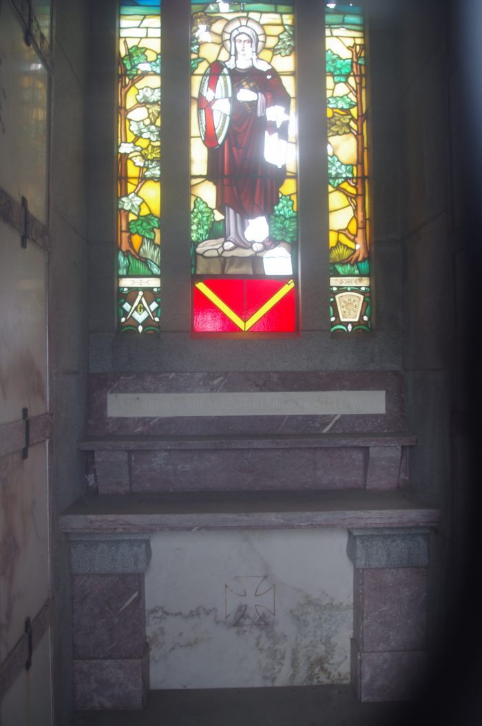 Interior of the Woodward Mausoleum.