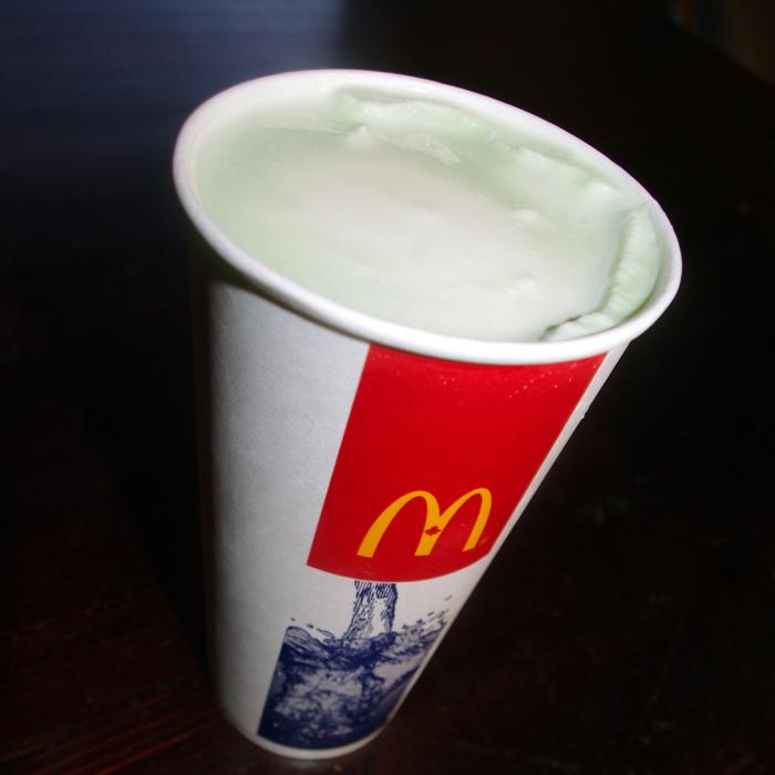 Shamrock Shake from McDonald's