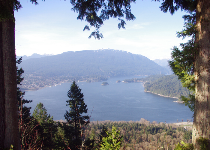 Burrard Inlet from Burnaby Mountain.
