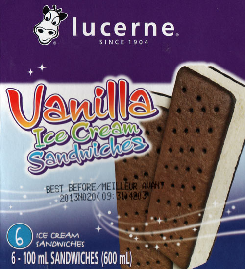 Lucerne Ice Cream Sandwiches