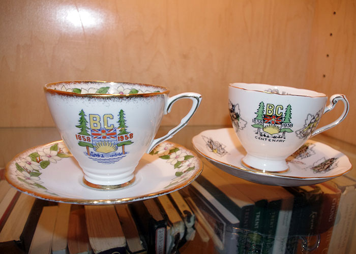 My treasured teacups from the B.C. Centennial in 1958