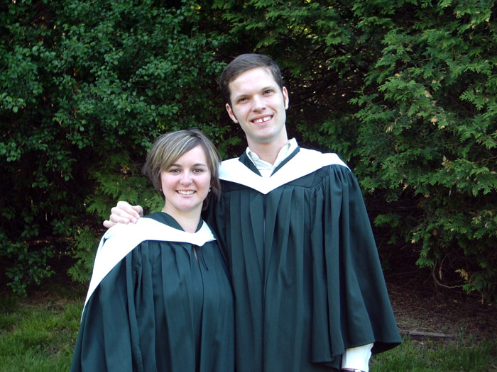 Me and my awesome friend Lindsay on graduation day at Trent University in 2005.