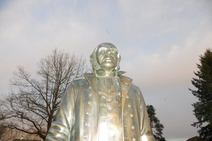 Statue of Sir James Douglas at Fort Langley