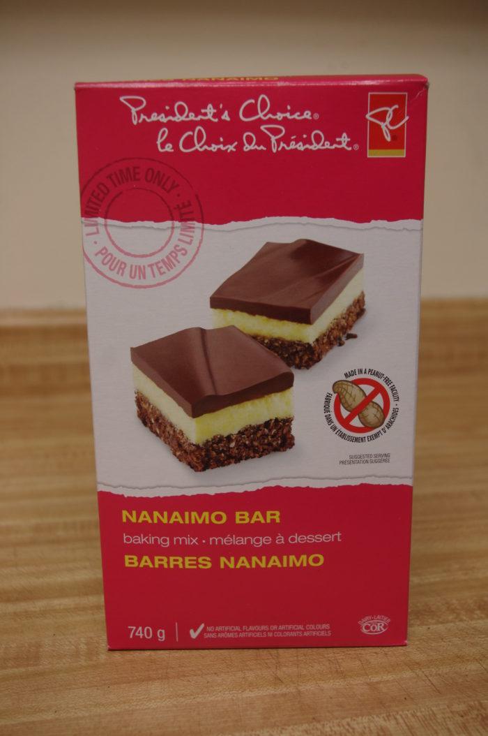 President's Choice brand Nanaimo bar baking mix