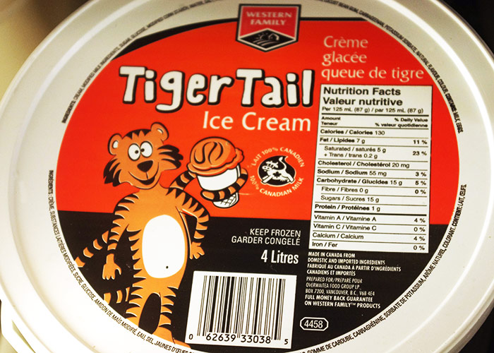 Western Family Tiger Tail Ice Cream