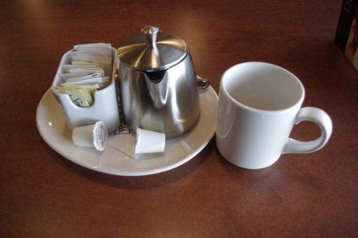 The tea was excellent!