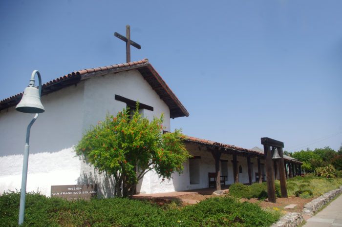 The end of the Mission Trail at Mission San Francisco Solano!