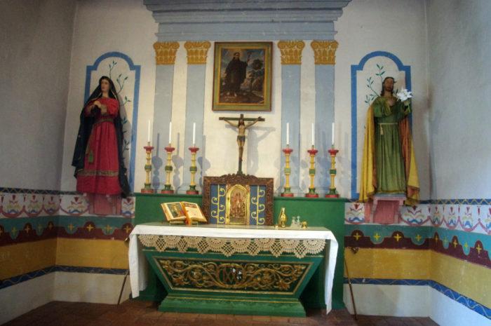 Chapel altar at Mission San Francisco Solano