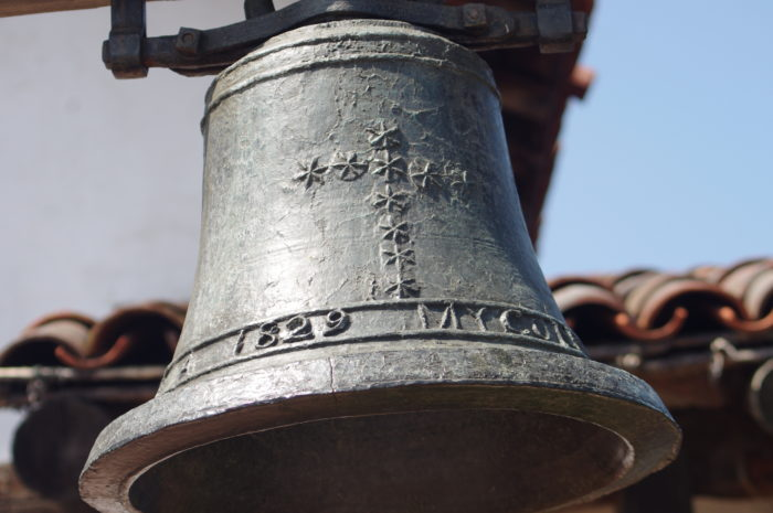 This original bell from the mission was cast in Mexico in 1829.