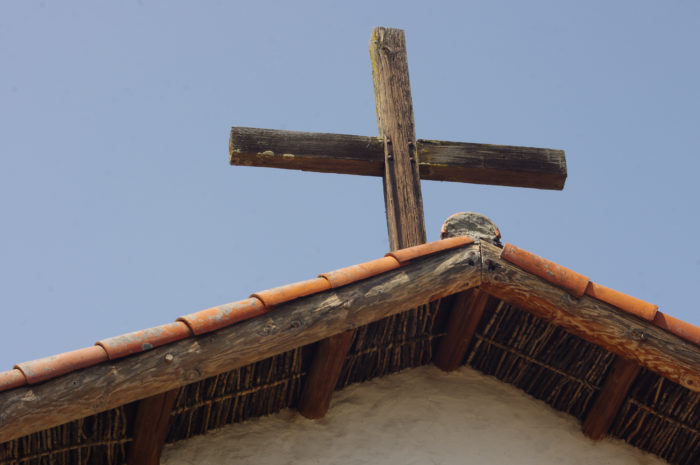 Chapel roof at Mission San Francisco Solano.