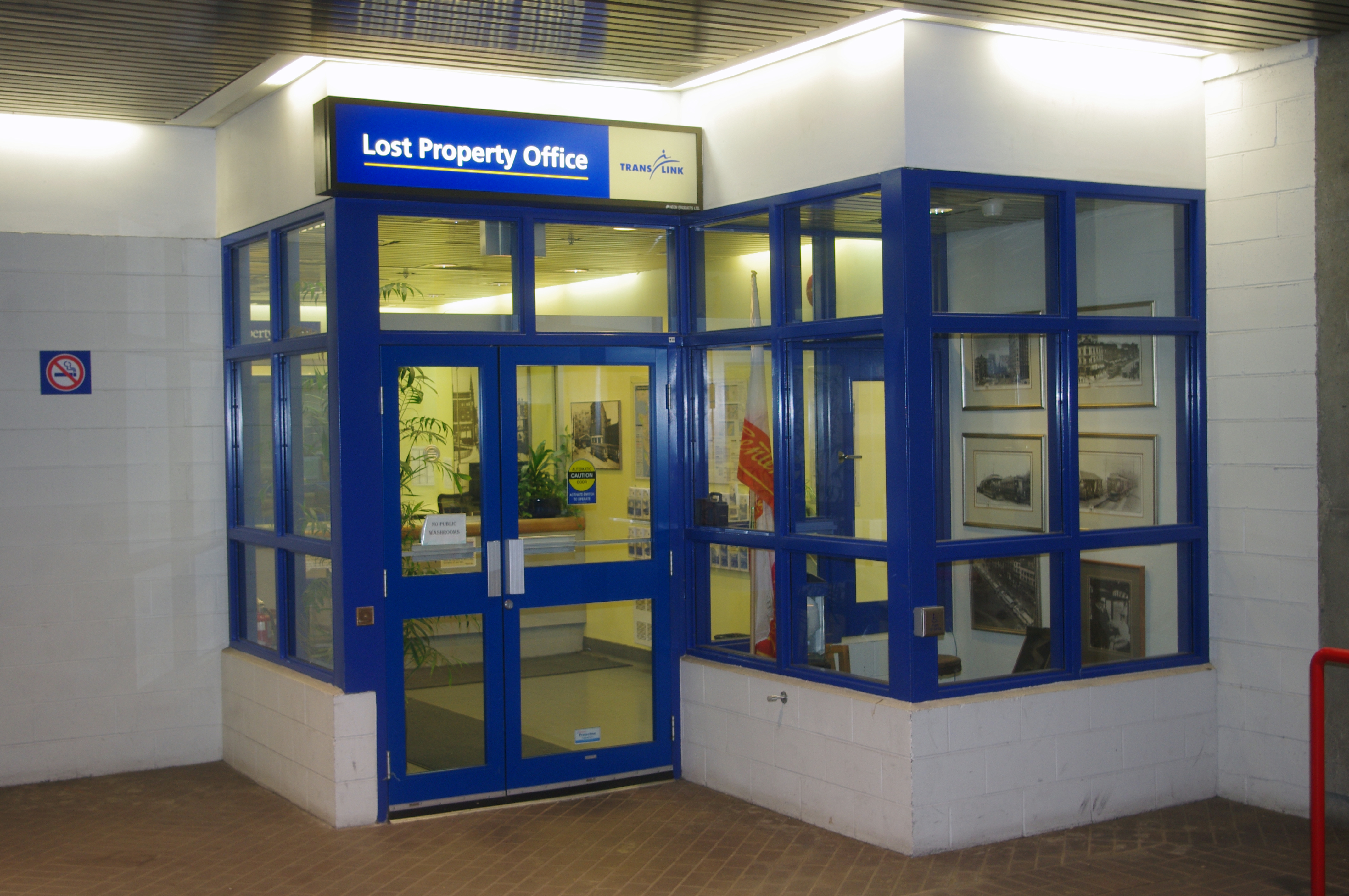 TransLink Lost Property Office at Stadium–Chinatown Station