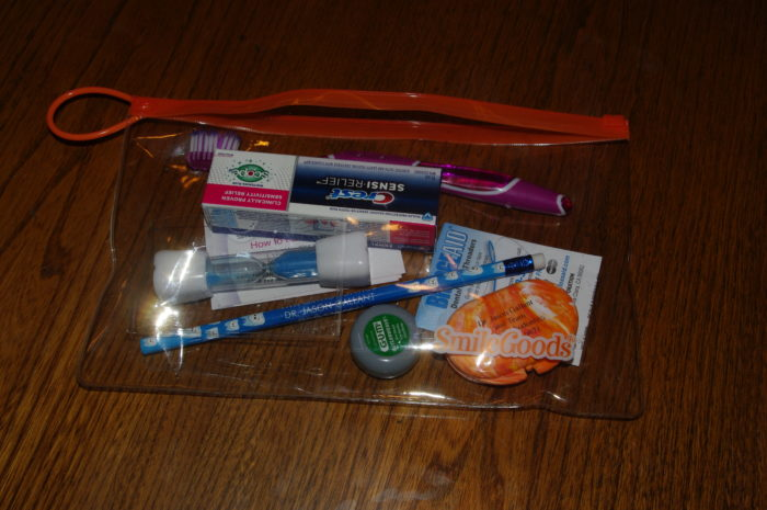 They gave me a care pouch with various items that will help me maintaining my braces. They also threw in a pencil!