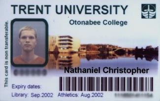 My Trent University student card