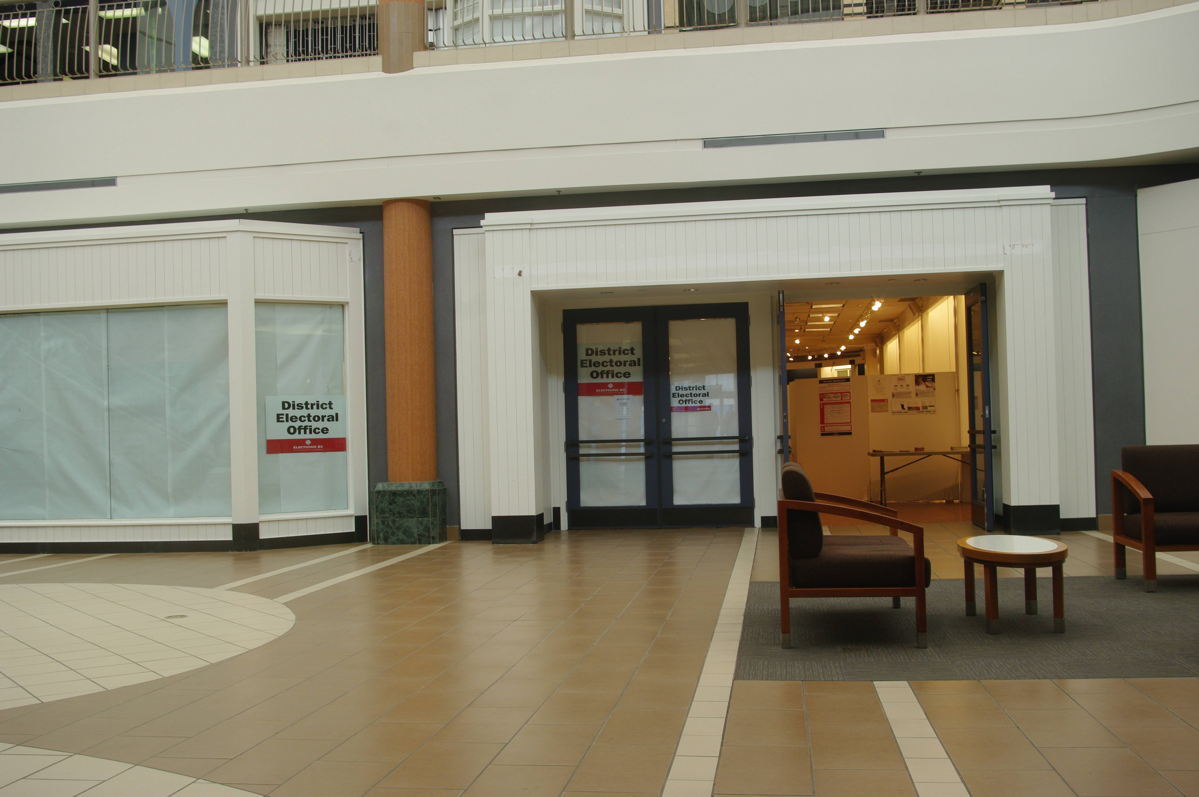 Burnaby North District Electoral Office inside Brentwood Town Centre