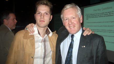 Me and Bob Rae at Sir Sanford Fleming College. 18 Nov 2004.