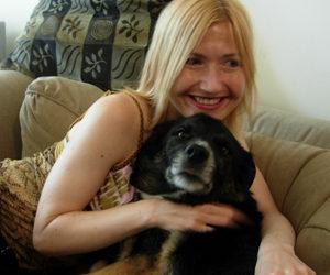 Galina Pembroke with her dog Sammy