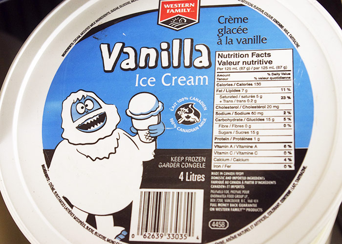 Western Family Vanilla Ice Cream