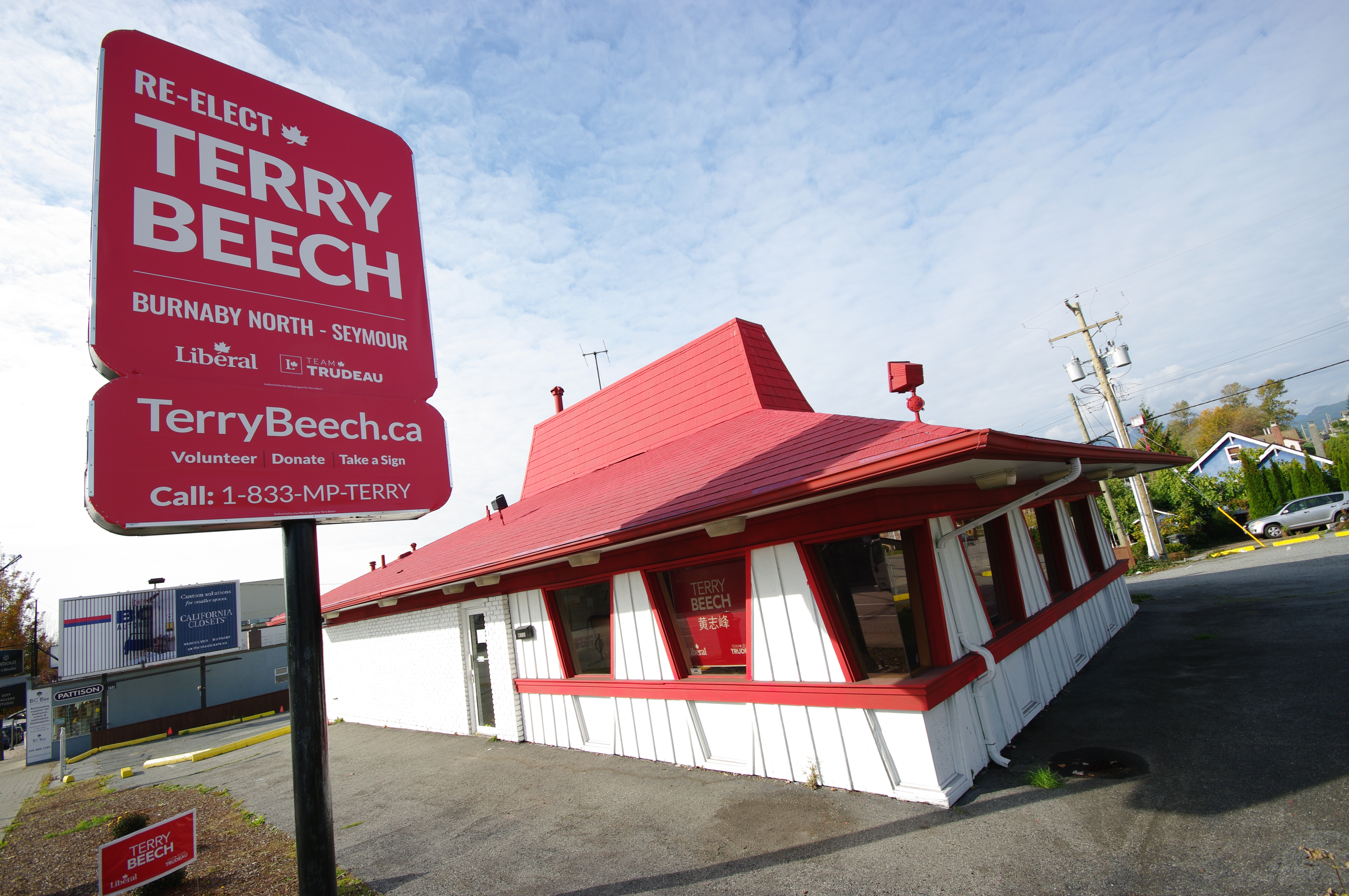 Terry Beech campaign office